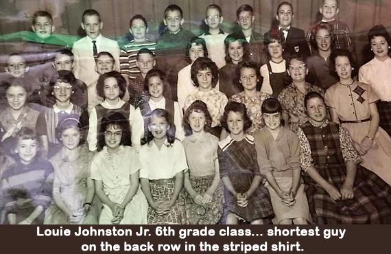 Louie Johnston Jr. 6th grade class